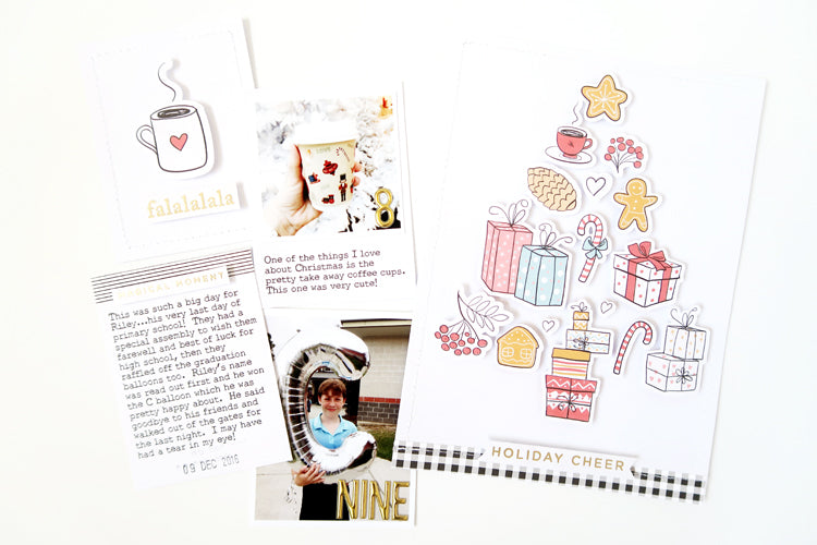 December Pocket Page Spread with New FJ Print & Cut Files 1 | Sheree Forcier | Felicity Jane