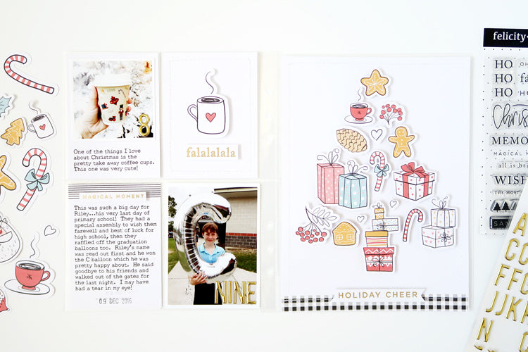 December Pocket Page Spread with New FJ Print & Cut Files 8 | Sheree Forcier | Felicity Jane