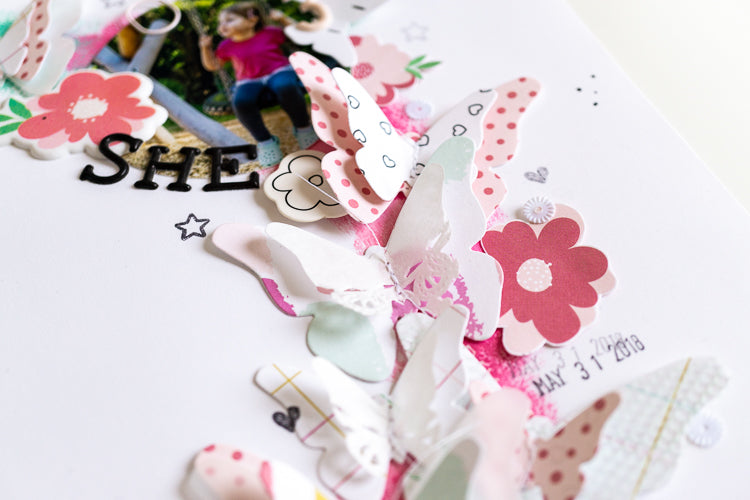 Wreath layout with layering butterflies 5 | Ulrike Dold | Felicity Jane
