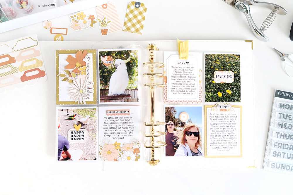 Pocket Page Spread by Sheree Forcier for Felicity Jane