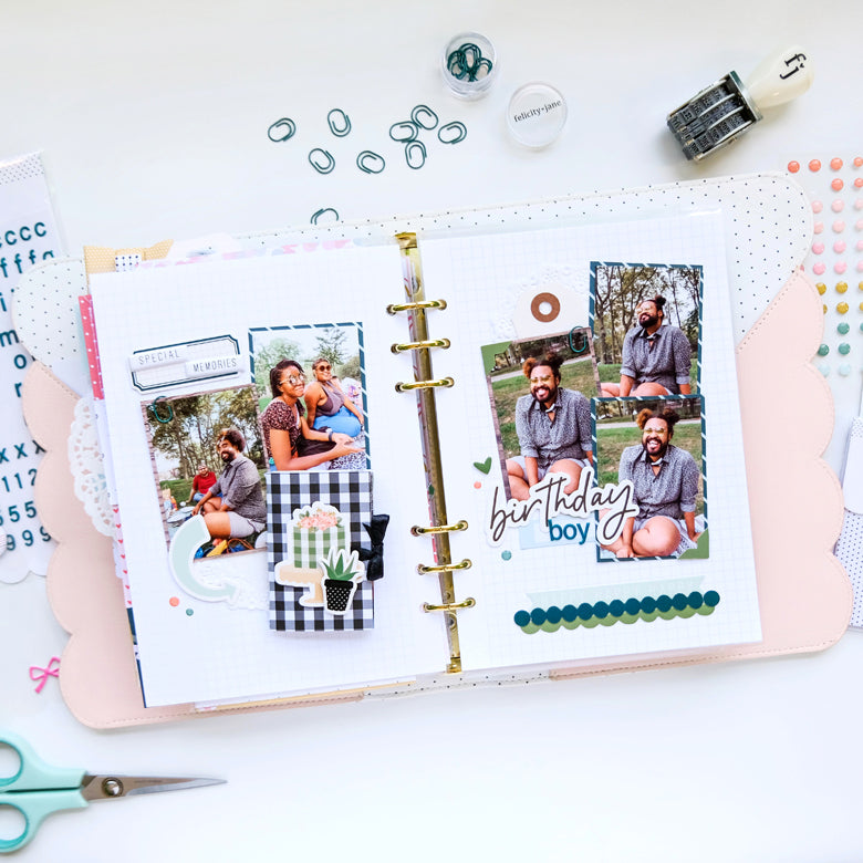 Note to Self Binder Spread by Tiffany Julia for Felicity Jane