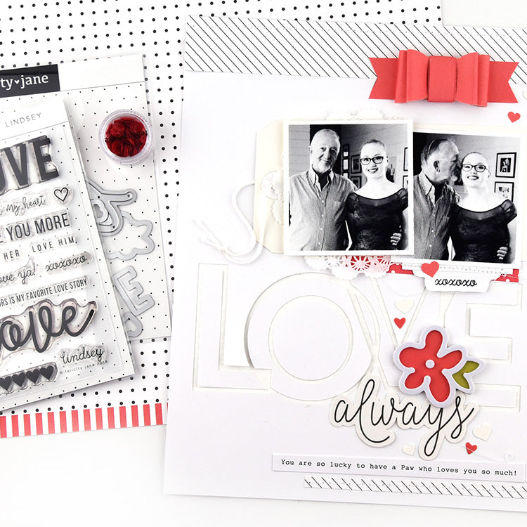 Love Always Layout with the Lindsey Kit 1 | Lorilei Murphy | Felicity Jane