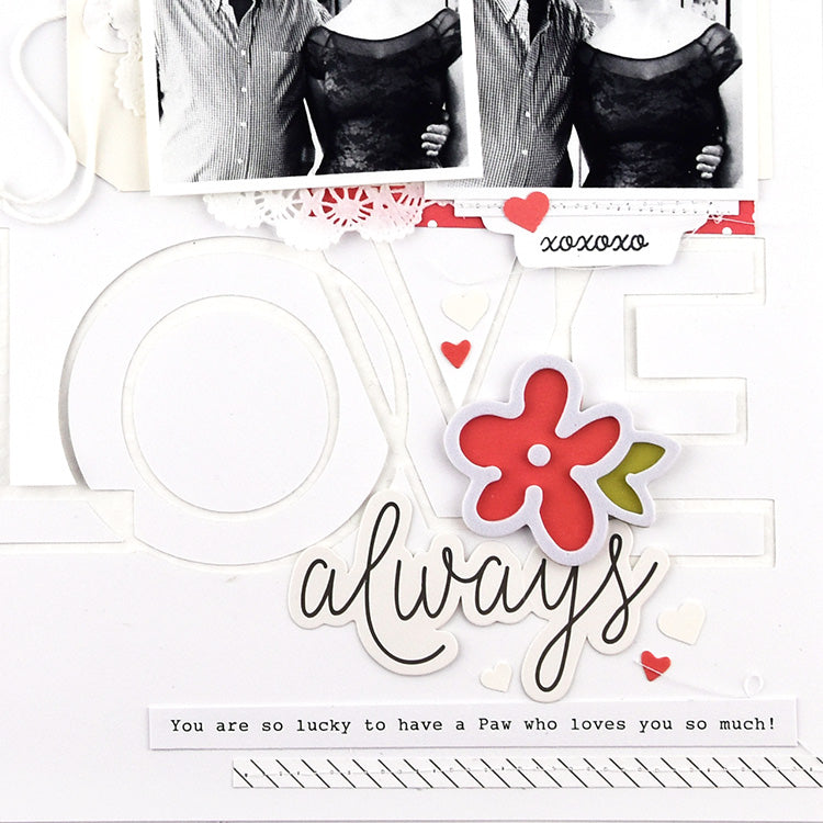 Love Always Layout with the Lindsey Kit 3 | Lorilei Murphy | Felicity Jane