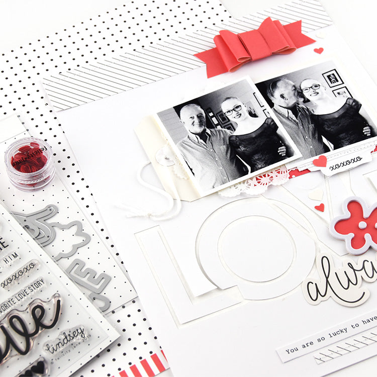 Love Always Layout with the Lindsey Kit 4 | Lorilei Murphy | Felicity Jane