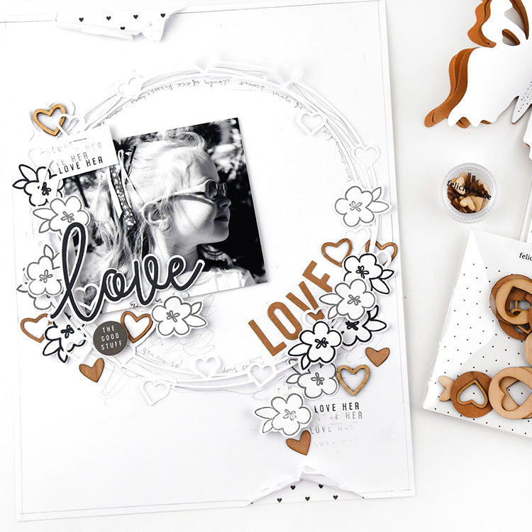 Love Her Layout using the Lindsey Collection 1 | Lorilei Murphy | Felicity Jane