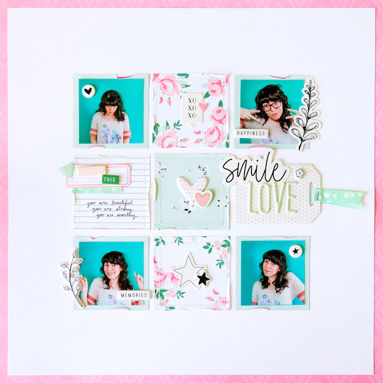 Scrapbook Layout by Tiffany Julia for Felicity Jane