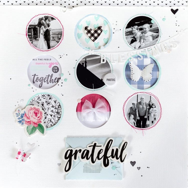 Grateful - A Soft Mixed Media Layout 1 | Ulrike Dold