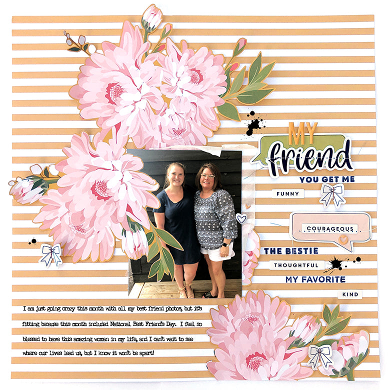 Scrapbook Layout by Guest Designer Lydia Cost for Felicity Jane