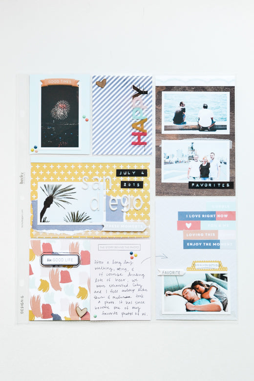 Pocket Page Layout by Suzanna Stein | @FelicityJane