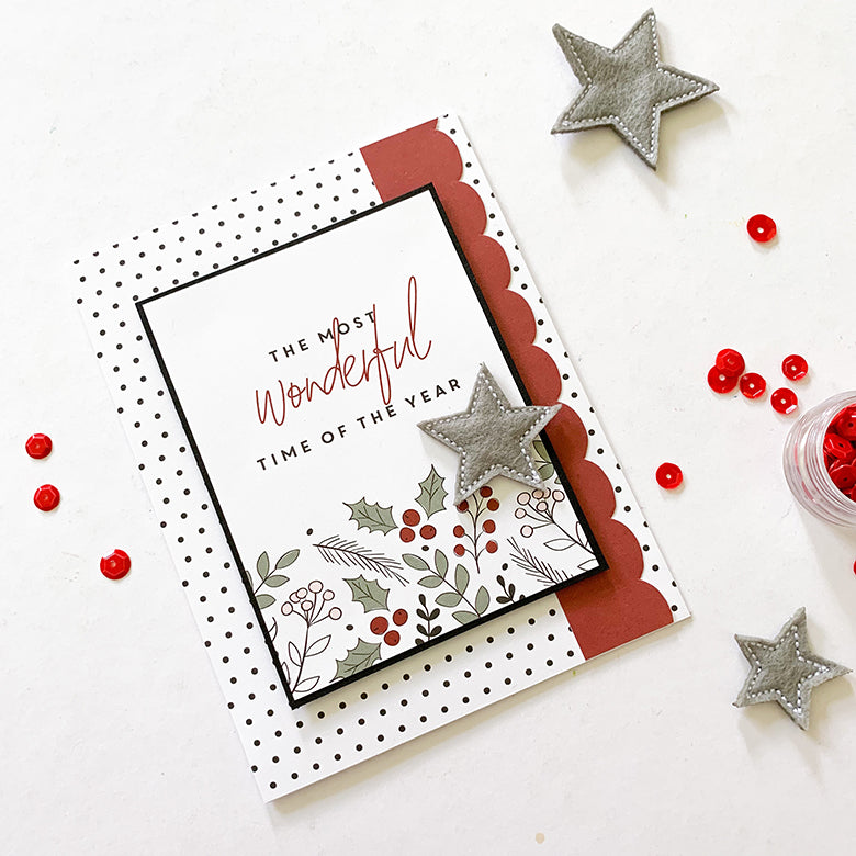 Christmas Cards with Holly Kit 2 | Mandy Melville | Felicity Jane