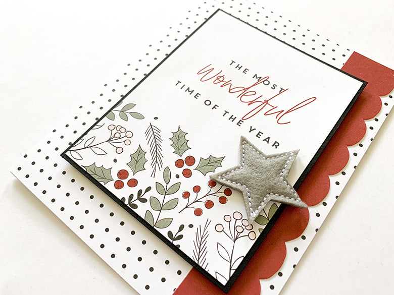 Christmas Cards with Holly Kit 3 | Mandy Melville | Felicity Jane