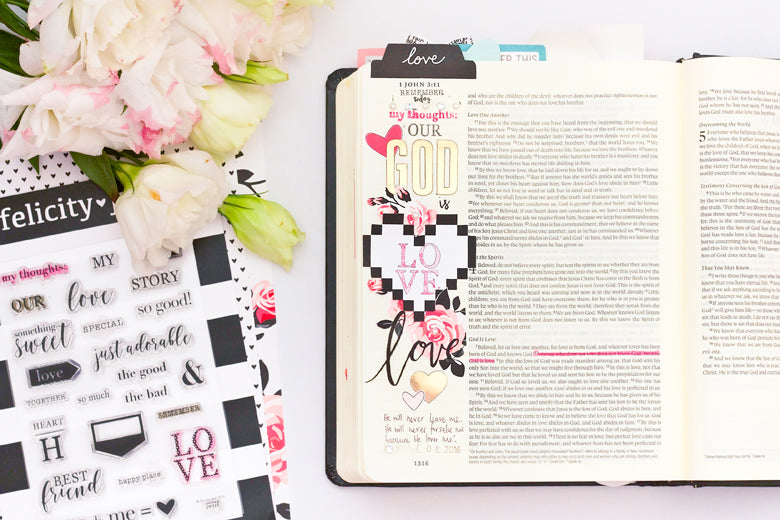 Jessy Christopher | @felicity_jane | God is Love Bible Journaling