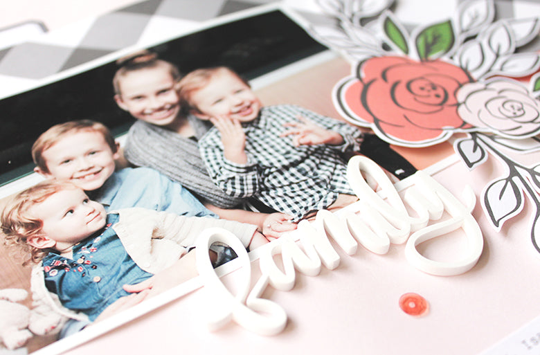 Family Layout by Mandy Melville | @FelicityJane