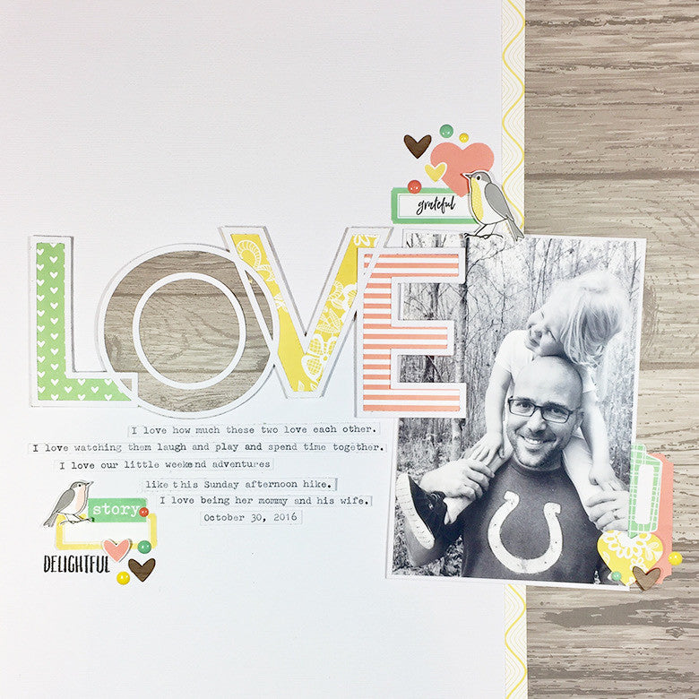 Love Layout by Elizabeth Pear | @FelicityJane