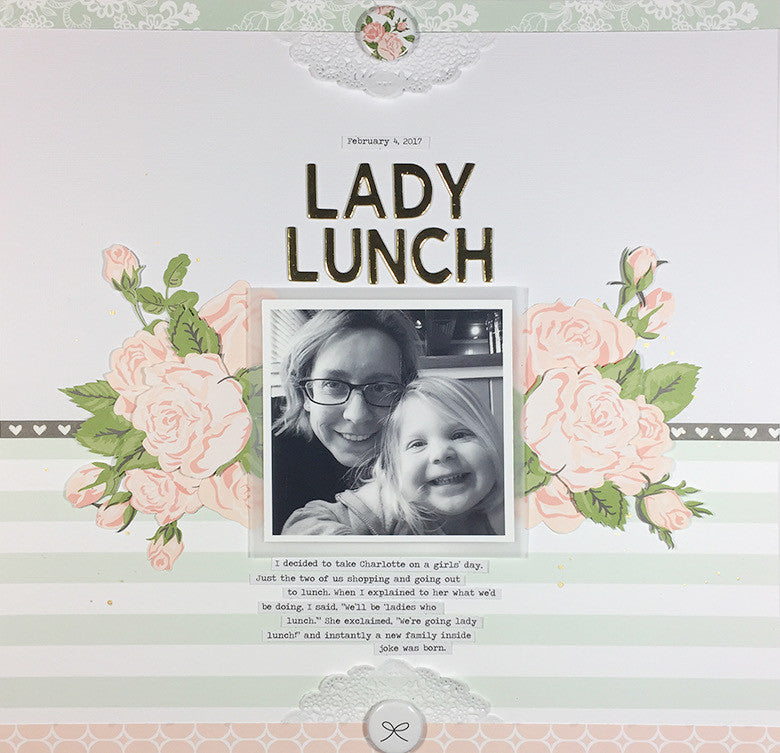 Lady Lunch Layout by Elizabeth Pear | @FelicityJane