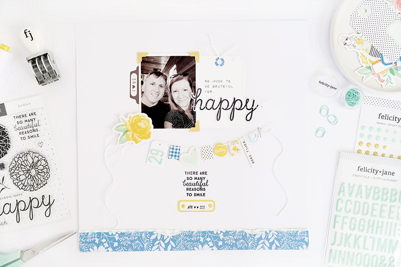 Happy Layout with Process Video 1 | Sheree Forcier