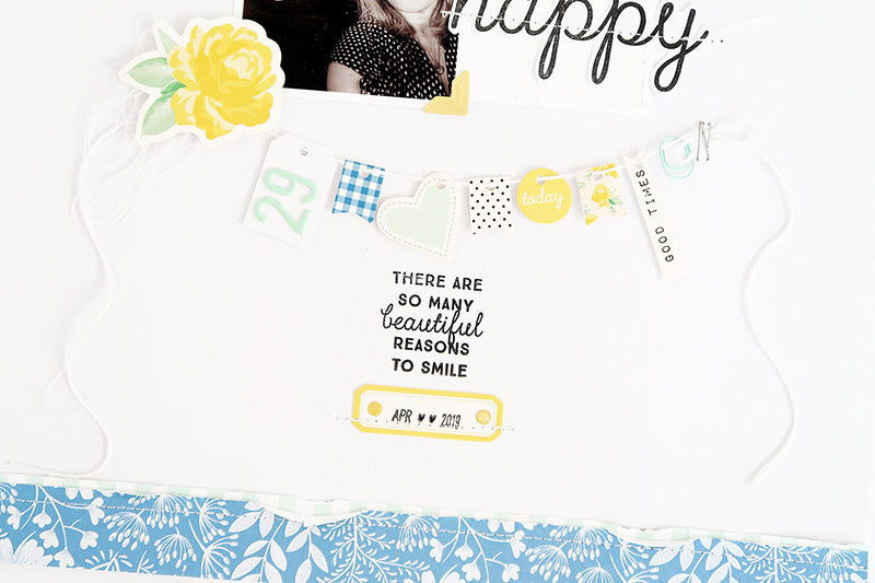 Happy Layout with Process Video 4 | Sheree Forcier