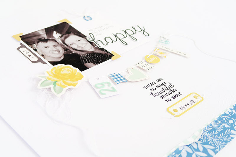 Happy Layout with Process Video 5 | Sheree Forcier