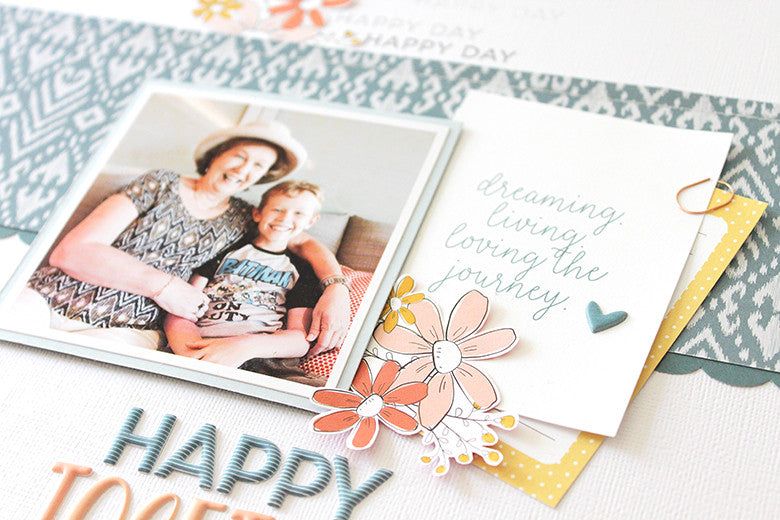Happy Together Layout by Mandy Melville | @FelicityJane