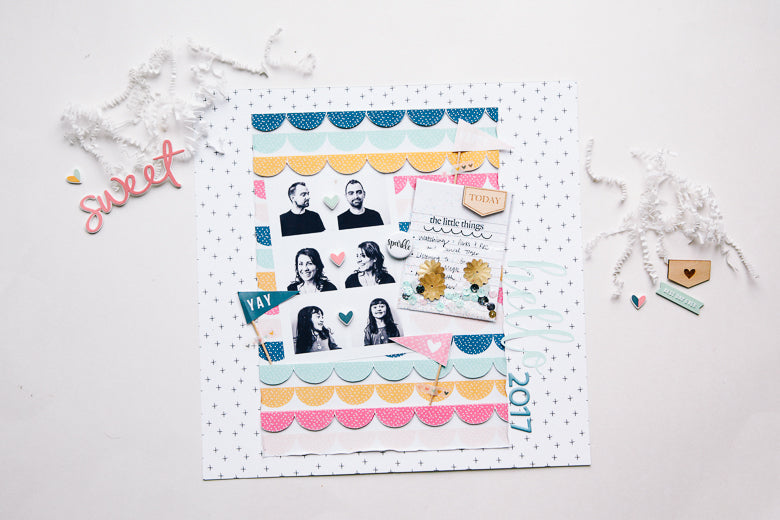 Hello 2017 Scrapbook Layout by Marybeth Hancher | @FelicityJane