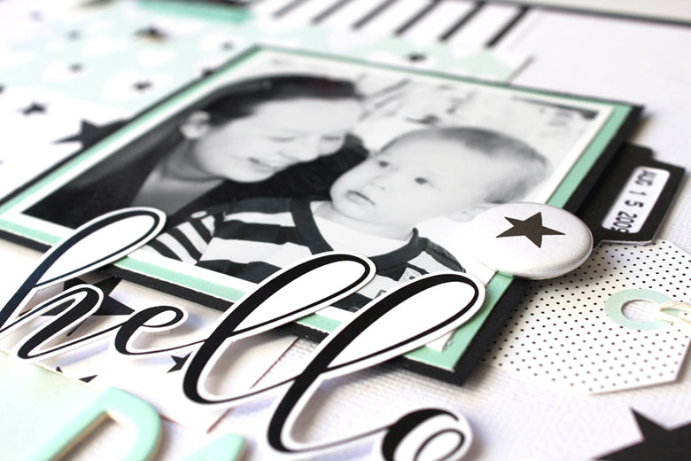 Hello Darling Boy Layout by Mandy Melville | @FelicityJane
