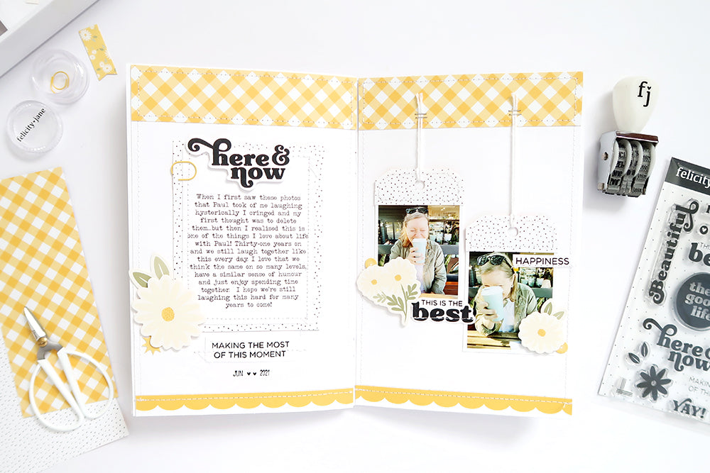 A5 Notebook Spread by Sheree Forcier for Felicity Jane
