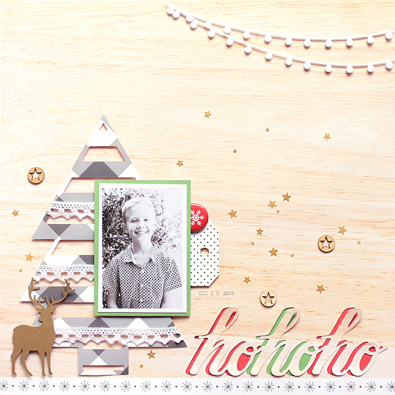 Ho Ho Ho Layout by Mandy Melville | @FelicityJane