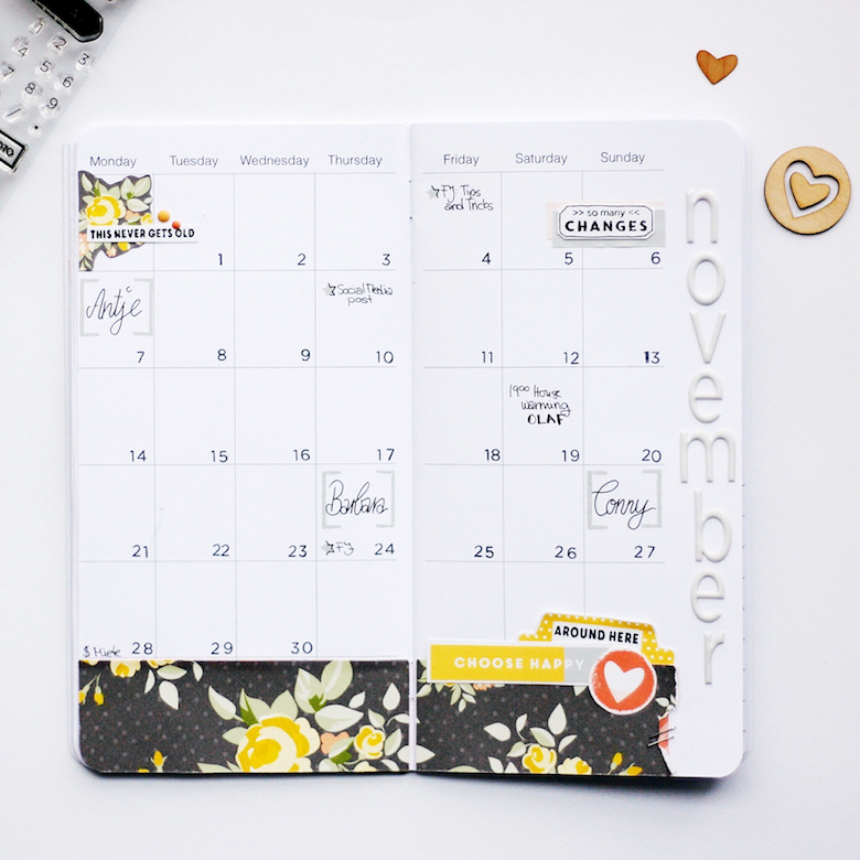 Monthly Planner Spread by Peggy Emmrich | @FelicityJane