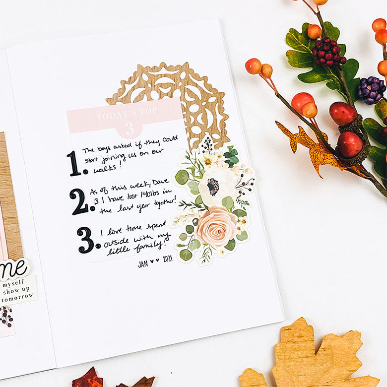 A5 Notebook Spread by Lindsey Lanning for Felicity Jane