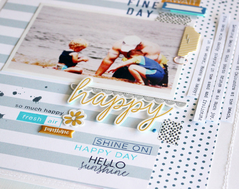 Happy layout by Kim Jeffress |@FelicityJane