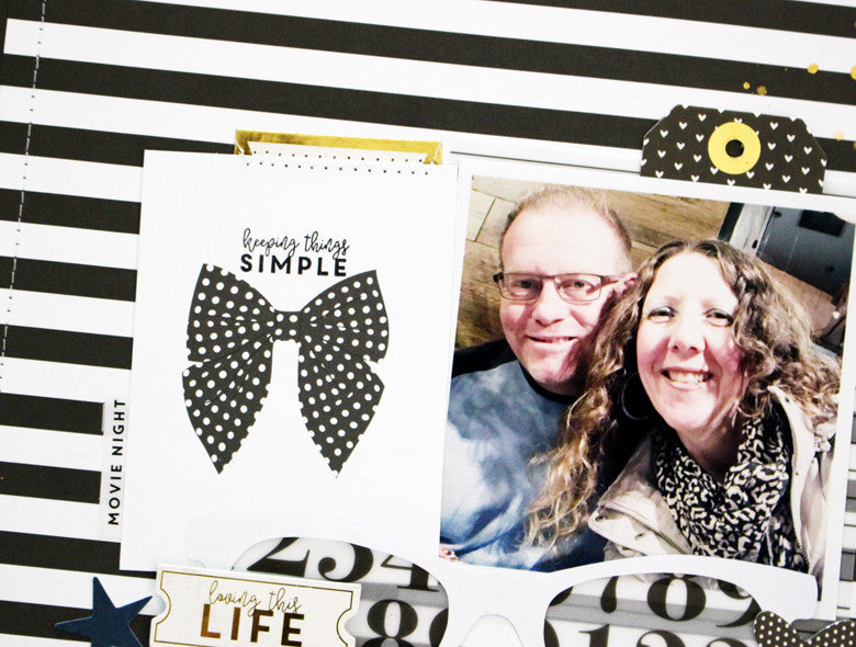 Date night Layout by Kim Jeffress | @FelicityJane