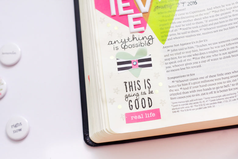 "Jessy Christopher | @felicity_jane | ""Mark 9:23"" Bible Journaling"