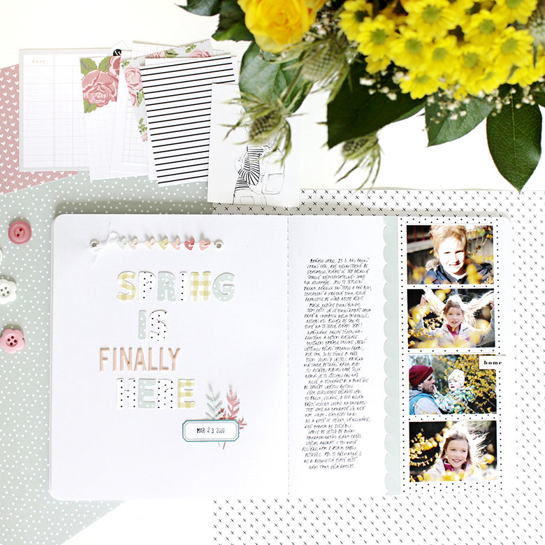 A5 Notebook Spread by Jana Bennett for Felicity Jane
