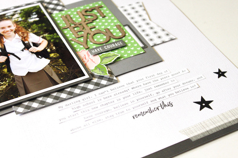 Just Be You Layout by Mandy Melville | @FelicityJane