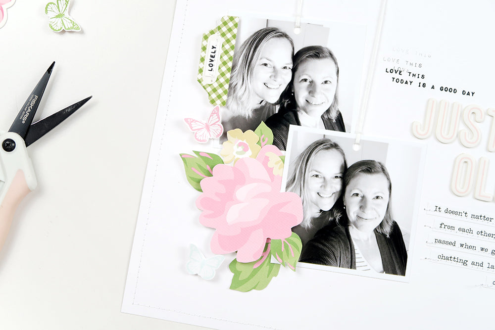 Scrapbooking Process by Sheree Forcier for Felicity Jane