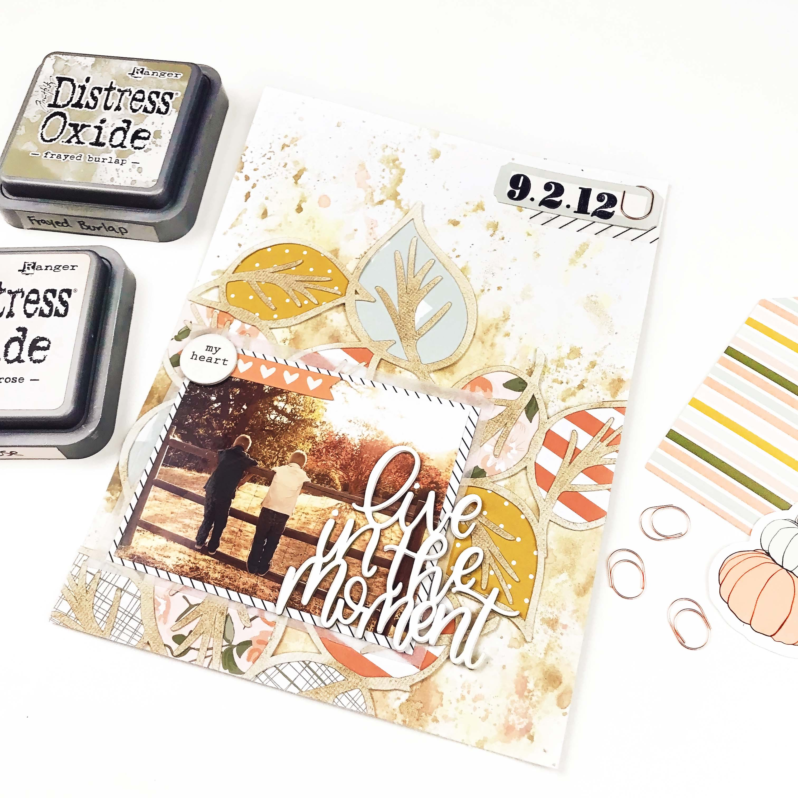 Leaves Background Cut File 1 | 6x8 Layout | Lindsey Lanning