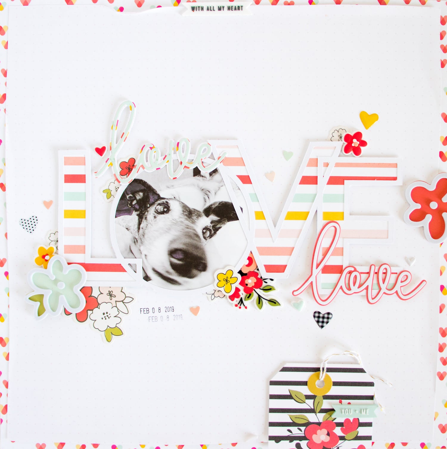 LOVE Layout with the Lindsey Kit  01 | Kathleen Graumüller | Felicity Jane