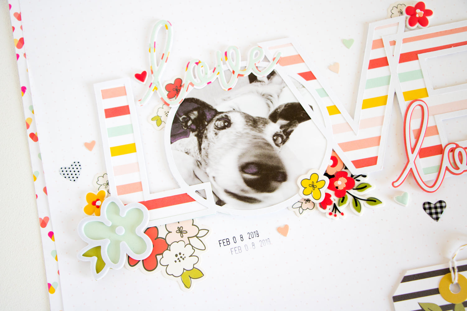 LOVE Layout with the Lindsey Kit  02 | Kathleen Graumüller | Felicity Jane