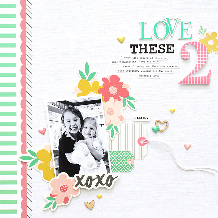 'Love These 2' layout using the Jaimee Kit 1 | Mandy Melville | Felicity Jane