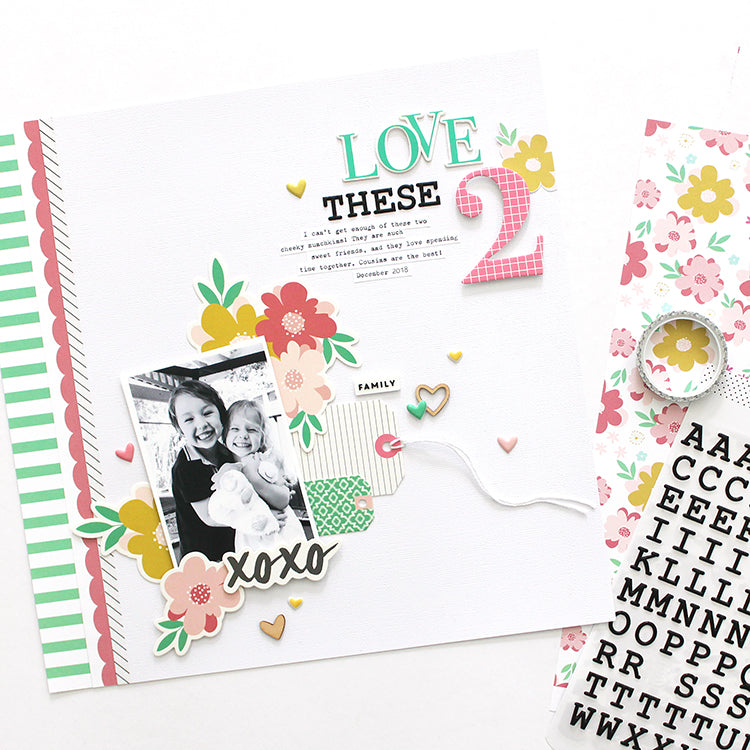 'Love These 2' layout using the Jaimee Kit 5 | Mandy Melville | Felicity Jane