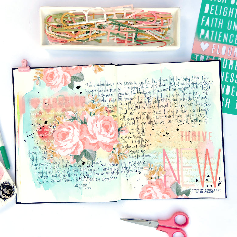 Art Journal Pages by Lydia Cost for Felicity Jane