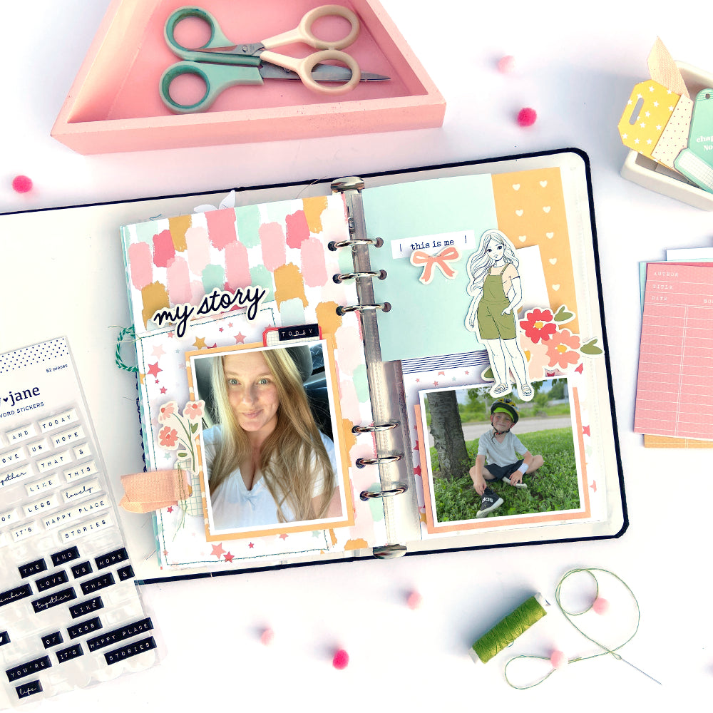 Traveler's Notebook Spread by Lydia Cost for Felicity Jane