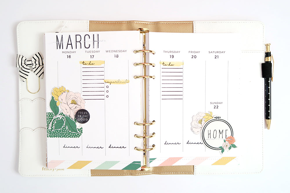 Planner Pages by Sheree Forcier for Felicity Jane
