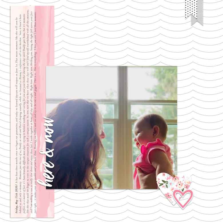 Digital Scrapbook Layout by Guest Designer Amberleigh Smith for Felicity Jane