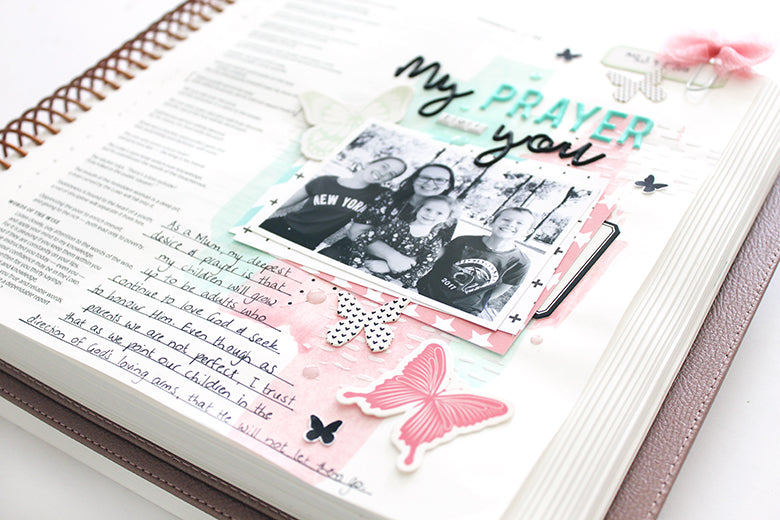 Bible Journaling by Mandy Melville for Felicity Jane