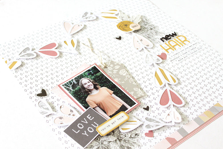 'New Hair' Layout with Jill Kit 2 | Mandy Melville | Felicity Jane