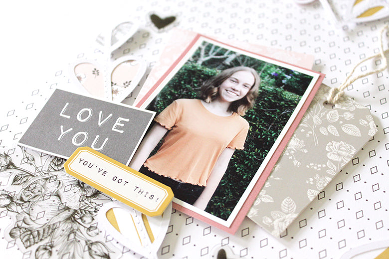 'New Hair' Layout with Jill Kit 3 | Mandy Melville | Felicity Jane