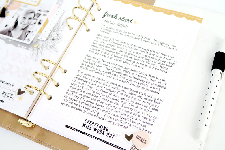 New Year New Goals Note to Self Binder Spread 5 | Sheree Forcier | Felicity Jane