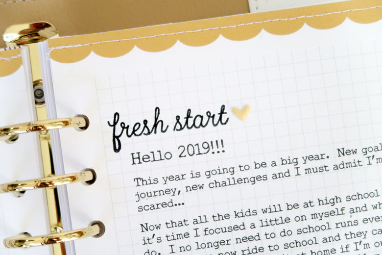 New Year New Goals Note to Self Binder Spread 6 | Sheree Forcier | Felicity Jane