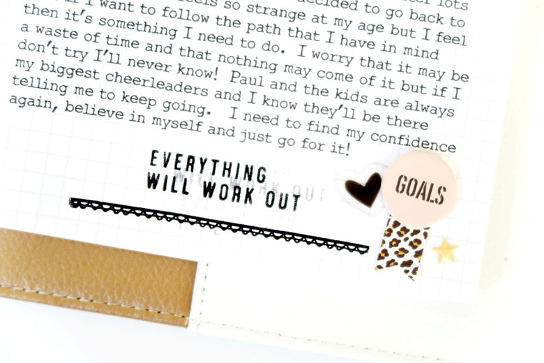 New Year New Goals Note to Self Binder Spread 7 | Sheree Forcier | Felicity Jane